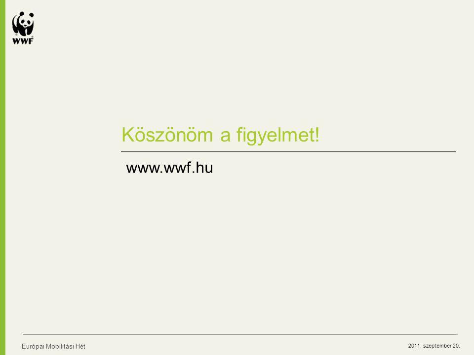 2011. szeptember 20. Köszönöm a figyelmet! Európai Mobilitási Hét www.wwf.hu