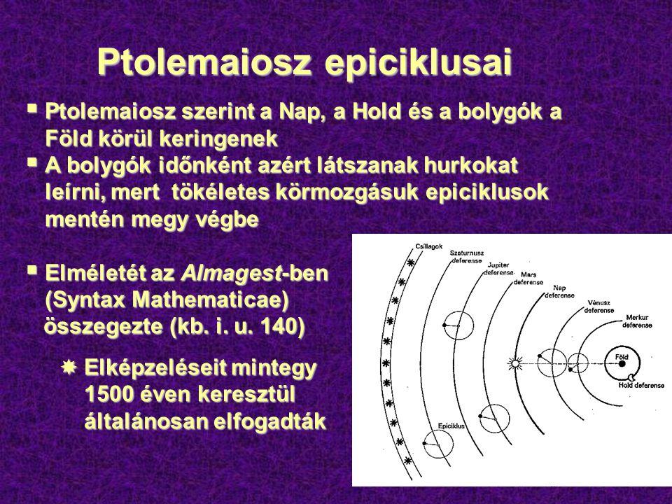 Kopernikusz forradalma Kopernikusz forradalma  Nicolaus Copernicus (1473-1543) lengyel kanonok forradalmi meggyőződése: bolygó- rendszerünk centrumában a Nap áll  Mindazonáltal a katolikus egyház kitartott a Föld centrális helyzete mellett.