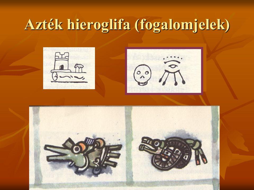 Urbán Gabriella 2003. Azték hieroglifa (fogalomjelek)