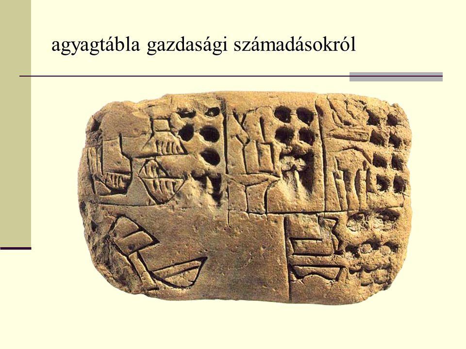 Technikai jellemzők - mindenre írtak (hieroglif írást gyakran vésték: kőre, fára, elefántcsont- ra), - papirusz: egyiptomi találmány, tussal, nádtollal, madártollal; ( a demotikust: csak erre írták: összevonásokkal, egyszerűsítésekkel: könnyed, hajlékony írás)