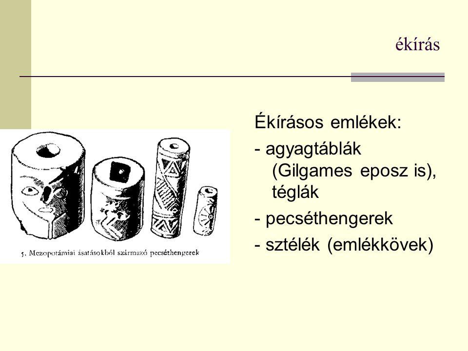 A hieroglifák megfejtője: Jean-Francois Champollion A rosette-i kőlap - kartus (cartouche) - írás iránya: felülről lefelé, hasábok jobbról balra; majd jobbról balra vízszintesen; végül buszrtofedon irányban; (a figurák az iránnyal szembenéznek)