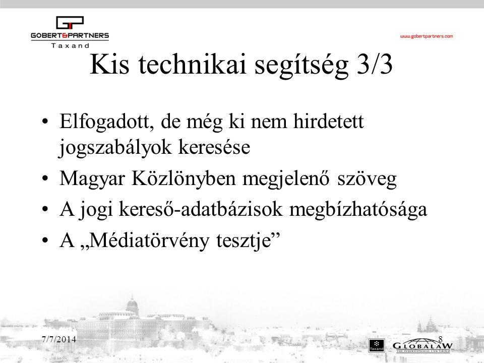 7/7/201419 Hatósági változások Kormányhivatalok mint jogorvoslati hatóságok Met.- módosításai Hatósági jogkörök, prioritások (pl.