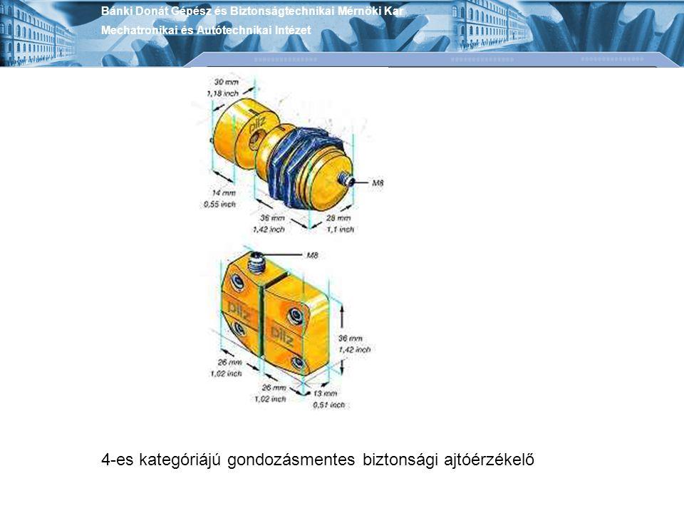 4-es kategóriájú gondozásmentes biztonsági ajtóérzékelő Bánki Donát Gépész és Biztonságtechnikai Mérnöki Kar Mechatronikai és Autótechnikai Intézet