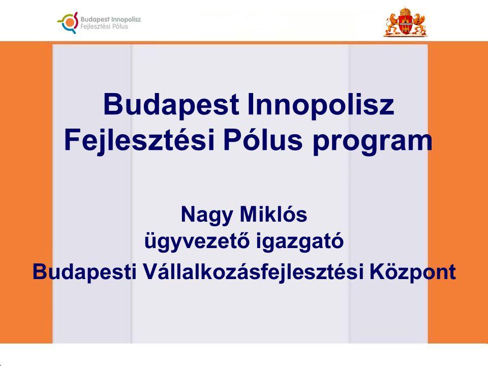 Budapest Innopolisz Fejlesztési Pólus program Nagy Miklós ügyvezető igazgató Budapesti Vállalkozásfejlesztési Központ