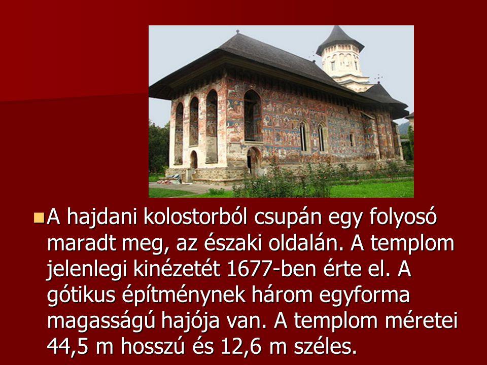 A hajdani kolostorból csupán egy folyosó maradt meg, az északi oldalán. A templom jelenlegi kinézetét 1677-ben érte el. A gótikus építménynek három eg