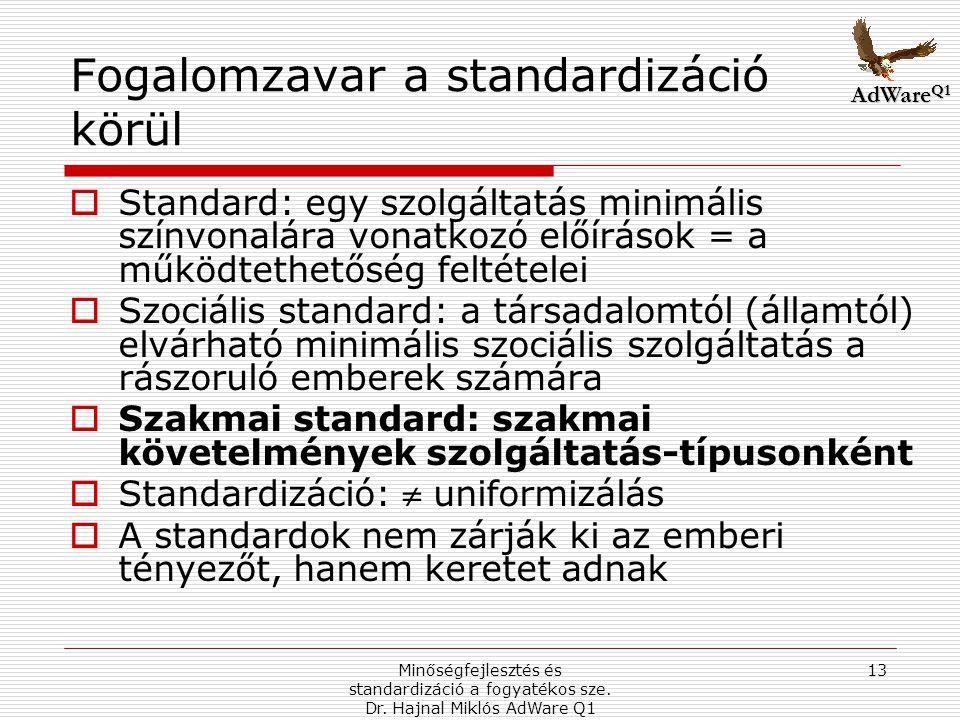 Minőségfejlesztés és standardizáció a fogyatékos sze.