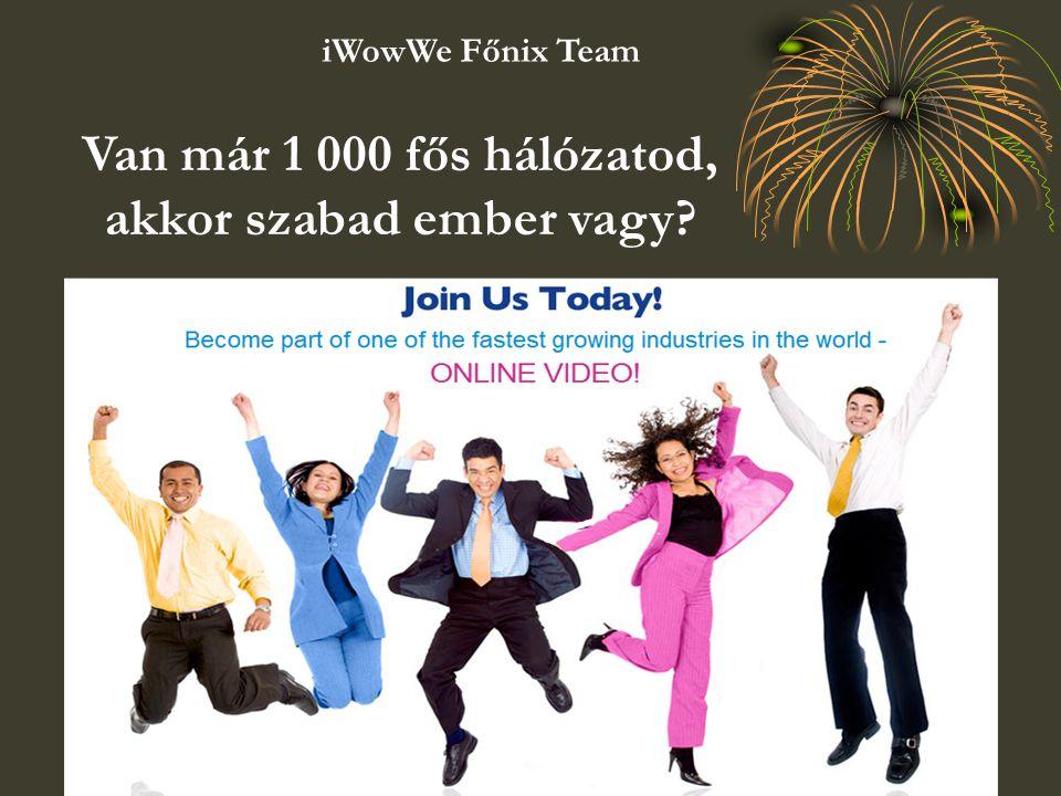 Van már 1 000 fős hálózatod, akkor szabad ember vagy? iWowWe Főnix Team