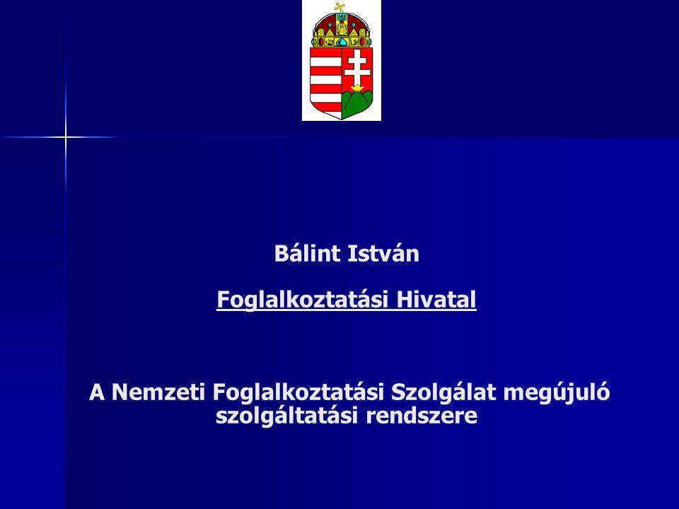 Bálint István Foglalkoztatási Hivatal A Nemzeti Foglalkoztatási Szolgálat megújuló szolgáltatási rendszere