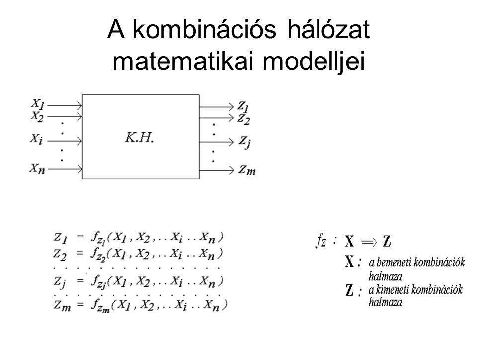 A kombinációs hálózat matematikai modelljei