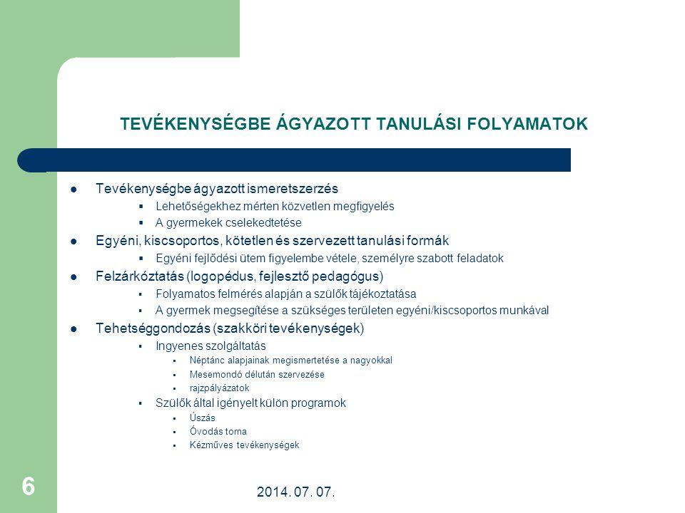 2014.07. 07. 17 HAGYOMÁNYOS PROGRAMOK/2. Farsang Hamvazkodás Nagyböjti készülődés Március 15.