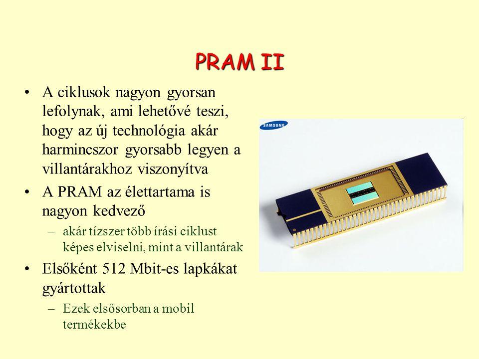 PRAM II A ciklusok nagyon gyorsan lefolynak, ami lehetővé teszi, hogy az új technológia akár harmincszor gyorsabb legyen a villantárakhoz viszonyítva