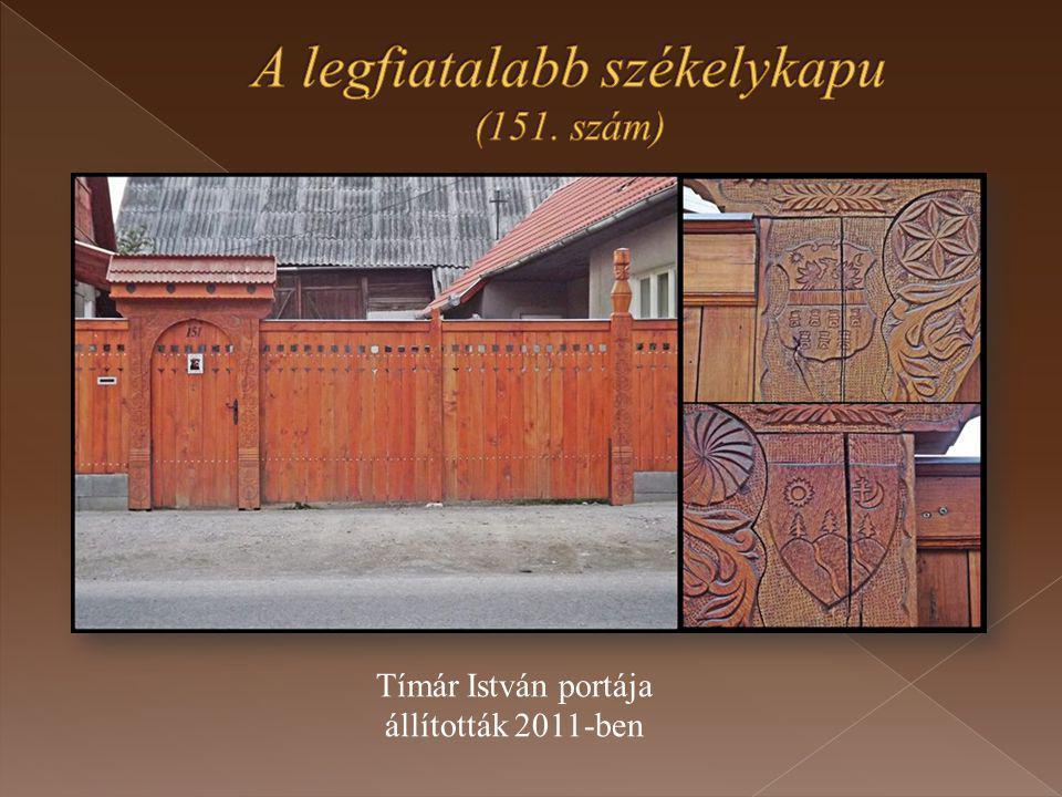 Tímár István portája állították 2011-ben