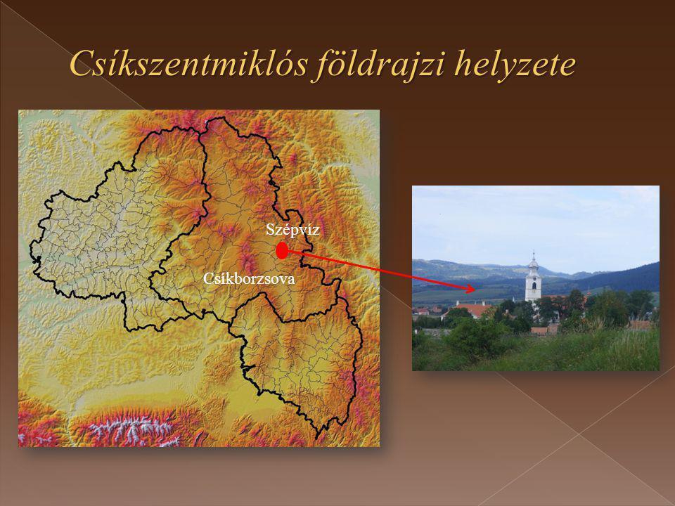 Csíkszentmiklós földrajzi helyzete Szépvíz Csíkborzsova