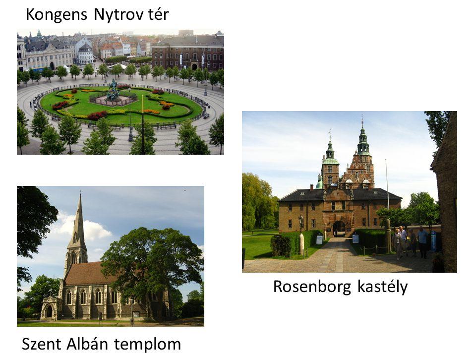 Kongens Nytrov tér Rosenborg kastély Szent Albán templom