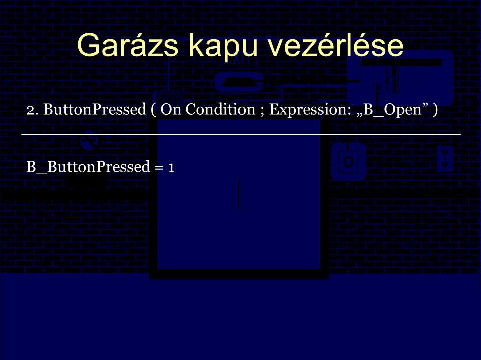 Garázs kapu vezérlése 3.DoorOpenClose ( On Regular Interval ; Int.