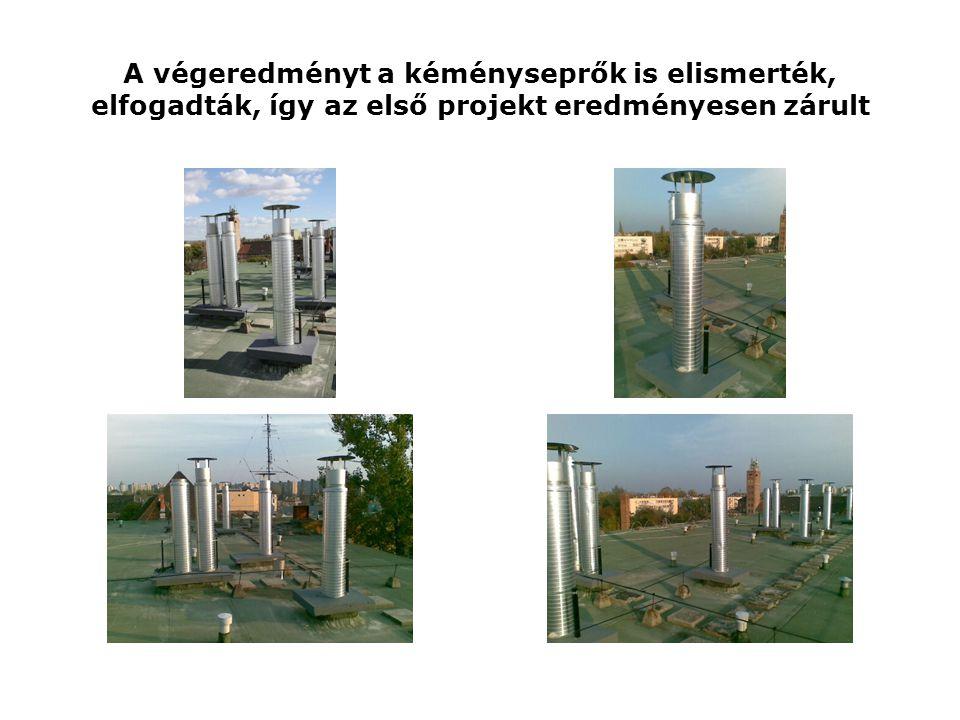 A végeredményt a kéményseprők is elismerték, elfogadták, így az első projekt eredményesen zárult