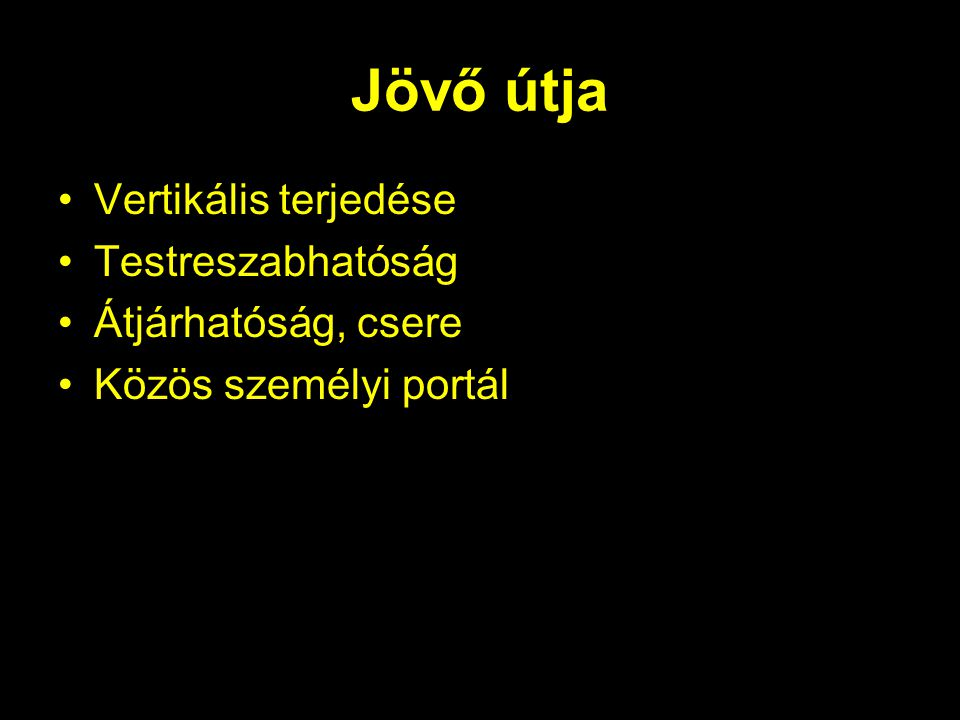 Hazai portálok Ős: internetto Tematikus linkgyűjtemények –Startlap –Kapu –Hudir Vertikális –Hírkereső –zene.net –egyszervolt.hu –prim
