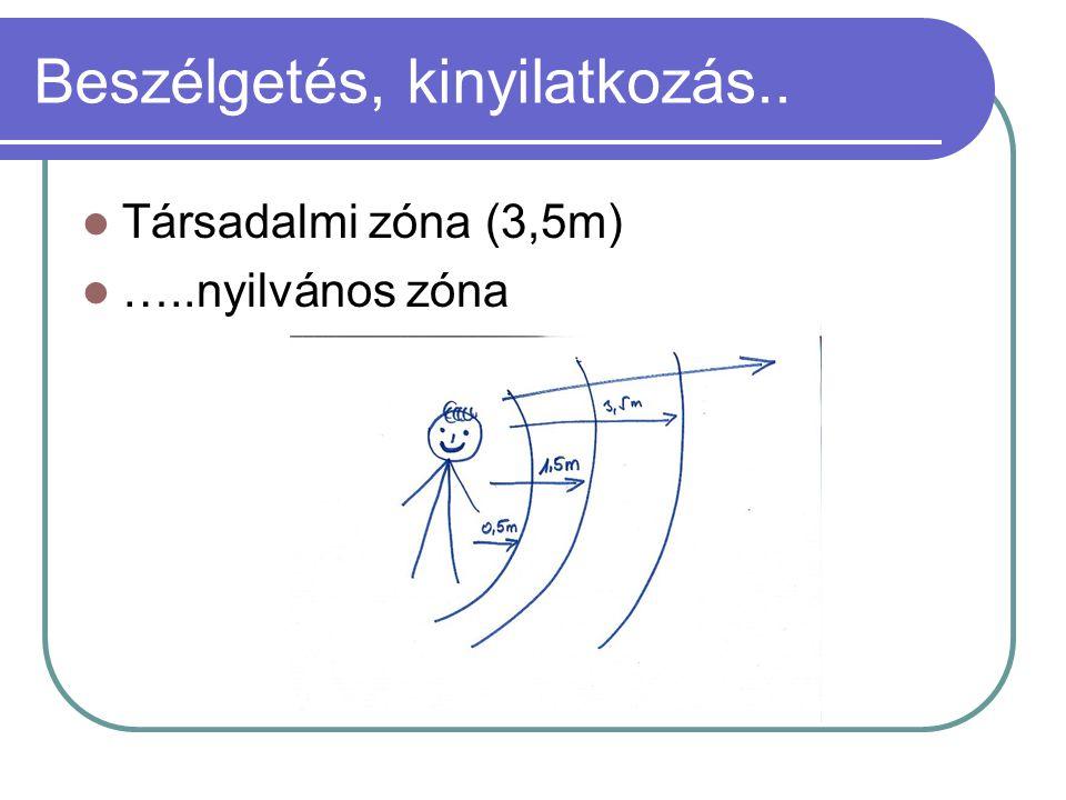 Beszélgetés, kinyilatkozás.. Társadalmi zóna (3,5m) …..nyilvános zóna