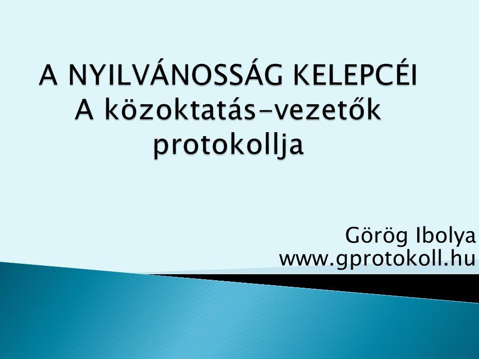 Görög Ibolya www.gprotokoll.hu