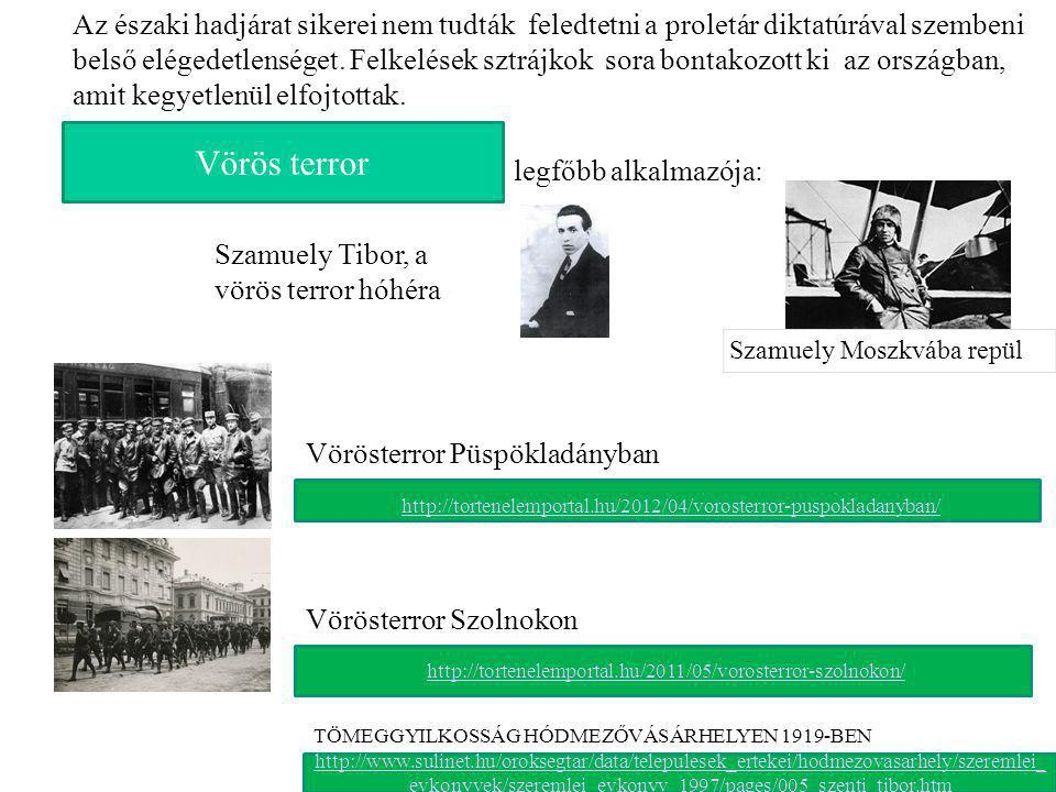 Vörös terror Szamuely Tibor, a vörös terror hóhéra Szamuely Moszkvába repül http://www.sulinet.hu/oroksegtar/data/telepulesek_ertekei/hodmezovasarhely