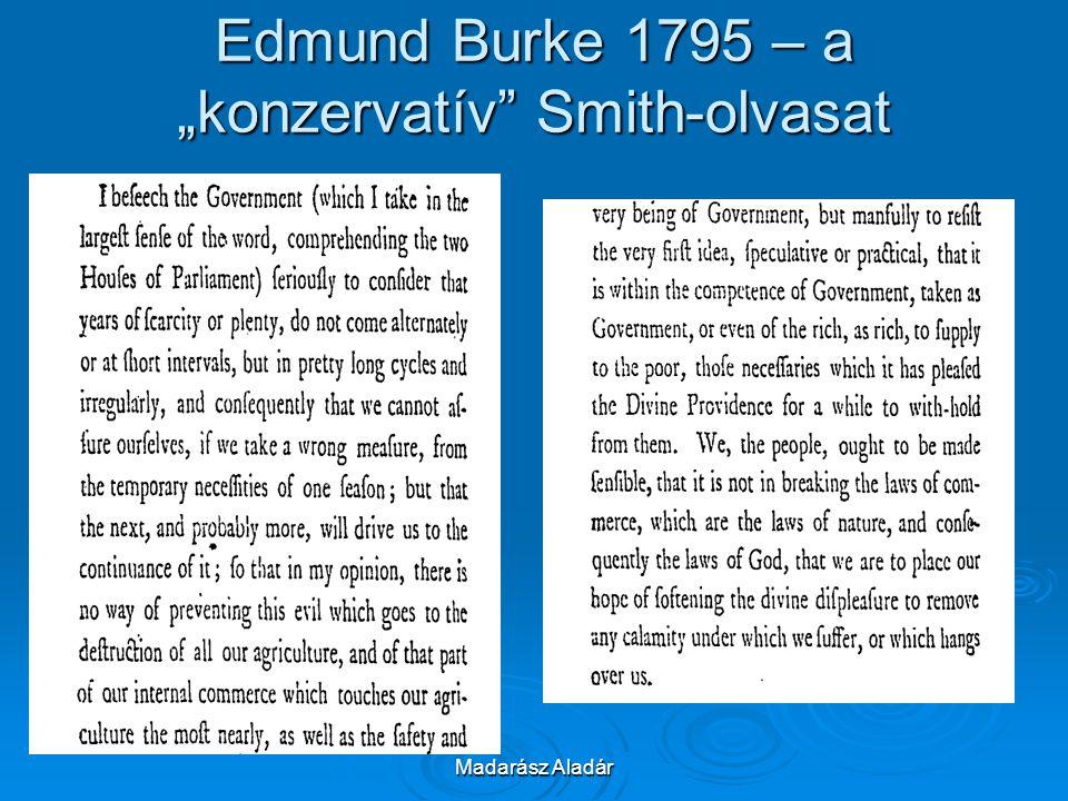 """Madarász Aladár Edmund Burke 1795 – a """"konzervatív"""" Smith-olvasat"""