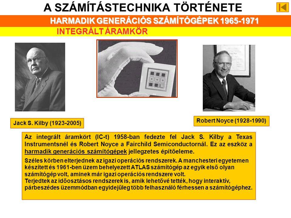 A SZÁMÍTÁSTECHNIKA TÖRTÉNETE MÁSODIK GENERÁCIÓS SZÁMÍTÓGÉPEK 1959- 1965 ÖSSZEFOGLALÁS A számítógépek üzemeltetésénél jellemző megoldás volt a kötegelt