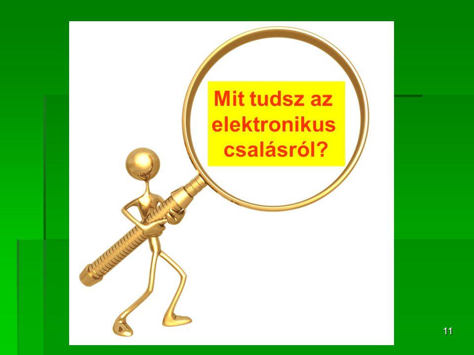 11 Mit tudsz az elektronikus csalásról?