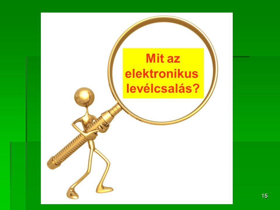 15 Mit az elektronikus levélcsalás?