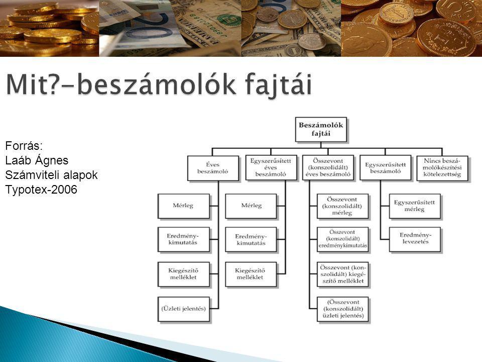 Forrás: Laáb Ágnes Számviteli alapok Typotex-2006