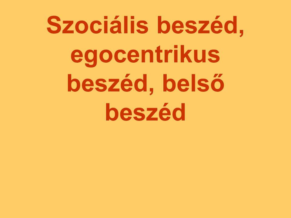Szociális (szocializált) beszéd: A nyelvhasználatnak az az esete, amikor a beszélő máshoz intézi a szavait.