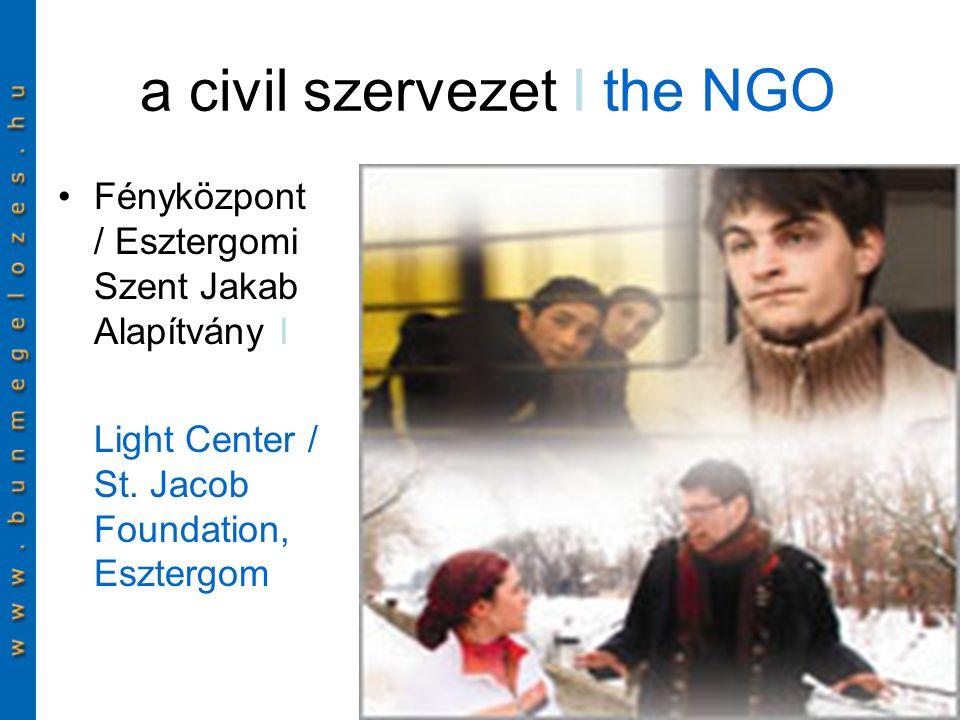 a civil szervezet I the NGO Fényközpont / Esztergomi Szent Jakab Alapítvány I Light Center / St.