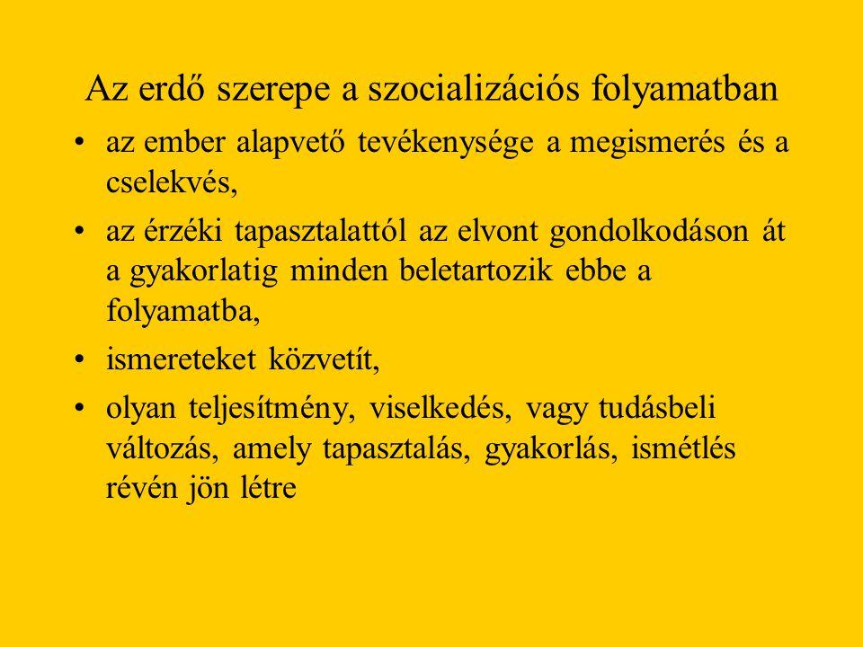 A szocializáció egy tanulási folyamat - társak között könnyebb Tervezett, szervezett, irányított cselekvéssor - eredménye az értékek belsővé válása és