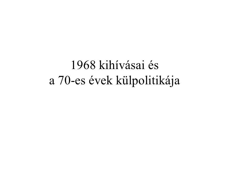 Nyugat felé eladósodás, Kelet felé tőkekihelyezés, hitelezés, romló cserearányok harapófogóba kerül a magyar gazdaság 1978 korrekciós év a korábbi tervekkel ellentétben, nagyon komoly eladósodás ÉvÁtlagos napi nemzetközi fizetési kötelezettség (millió dollárban) 197640 197750 197860