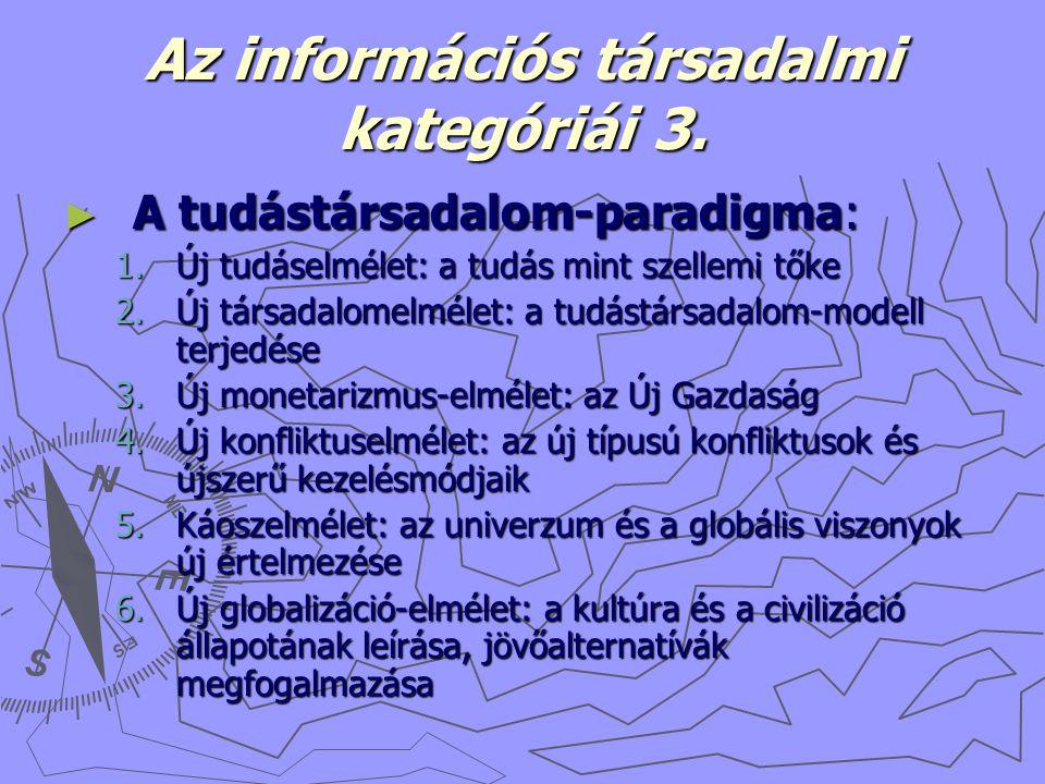 Az információs társadalmi kategóriái 3.