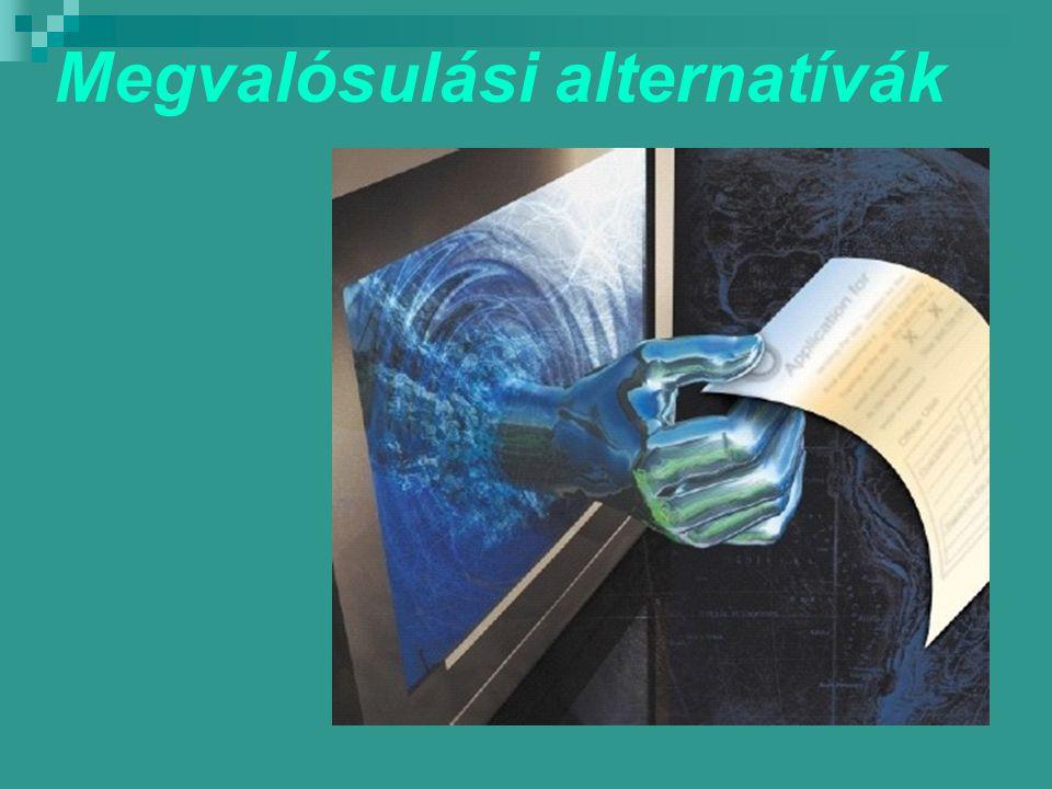 Megvalósulási alternatívák