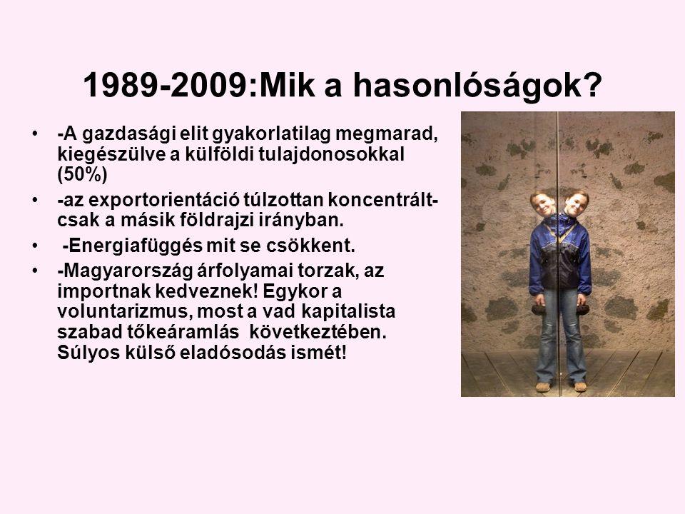 1989-2009:Mik a hasonlóságok.