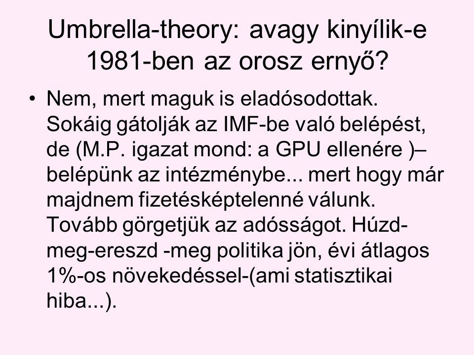 Umbrella-theory: avagy kinyílik-e 1981-ben az orosz ernyő.