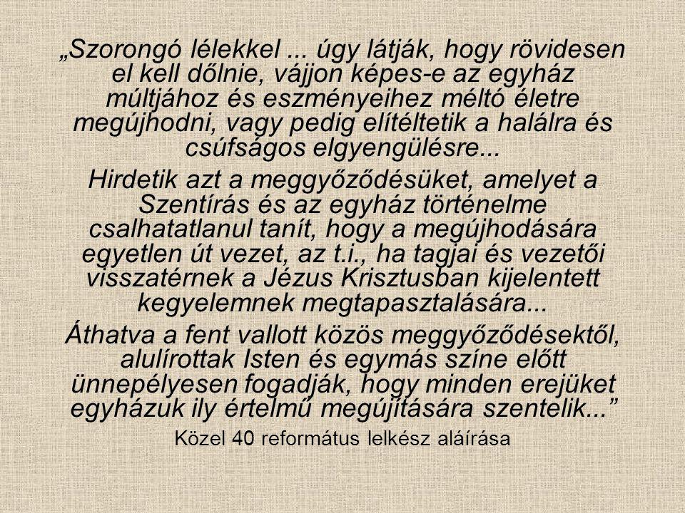 A Péceli kör vezetője, a péceli lelkész, Forgács Gyula, a református belmisszió kiemelkedő alakja volt.