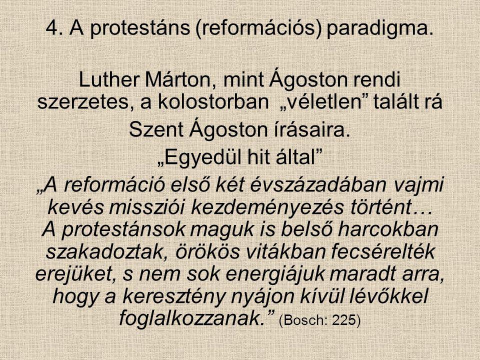 """""""Noha az anabaptisták helyzete mindezekben hasonló volt, ők mégis számottevő missziós tevékenységet folytattak. """"Később a reformátorok a missziói parancsot már nem tekintették kötelező érvényűnek, az anabaptisták ajkán – hitvallásaik és a periratok bizonysága szerint – a bibliai igék közül éppen a missziói parancs forgott leggyakrabban. (Bosch: 225.)"""