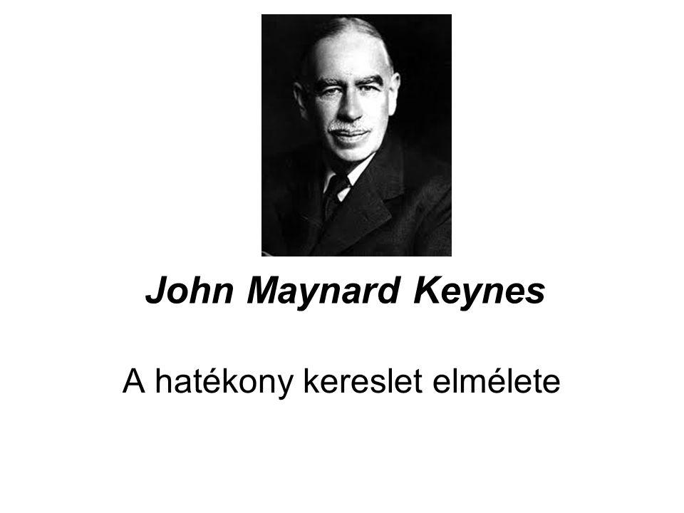 John Maynard Keynes A hatékony kereslet elmélete