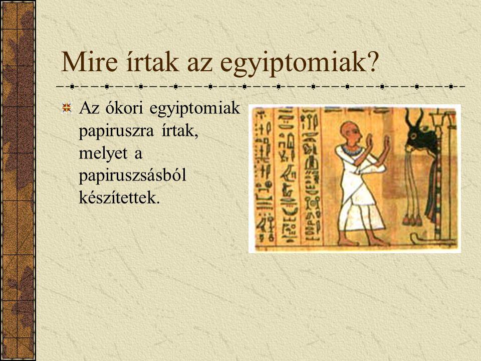 Hieroglifák Hieroglifák