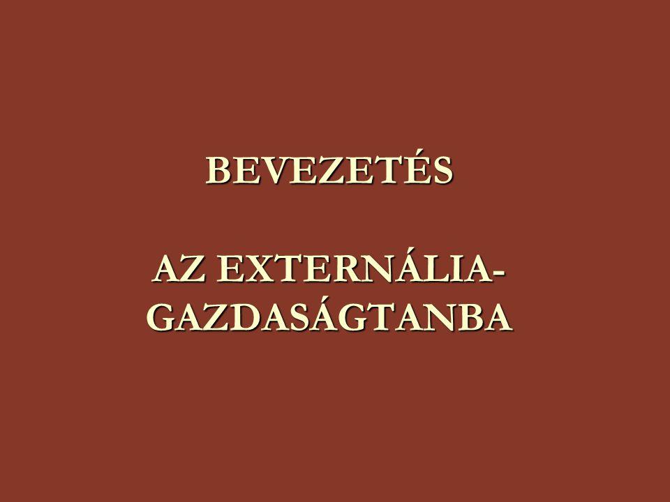 BEVEZETÉS AZ EXTERNÁLIA- GAZDASÁGTANBA