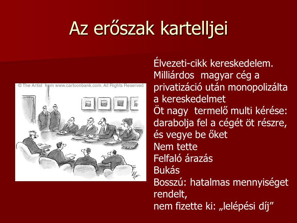 Az erőszak kartelljei Élvezeti-cikk kereskedelem. Milliárdos magyar cég a privatizáció után monopolizálta a kereskedelmet Öt nagy termelő multi kérése