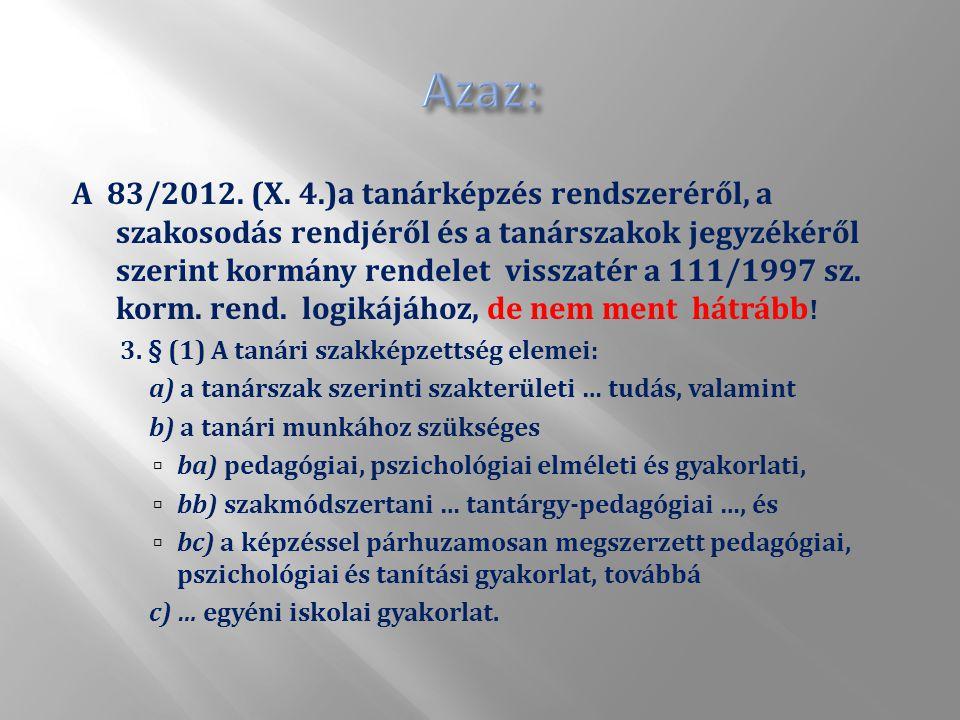 A 83/2012. (X.