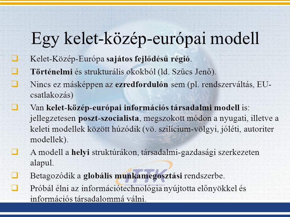 Egy kelet-közép-európai modell  Kelet-Közép-Európa sajátos fejlődésű régió.  Történelmi és strukturális okokból (ld. Szűcs Jenő).  Nincs ez másképp