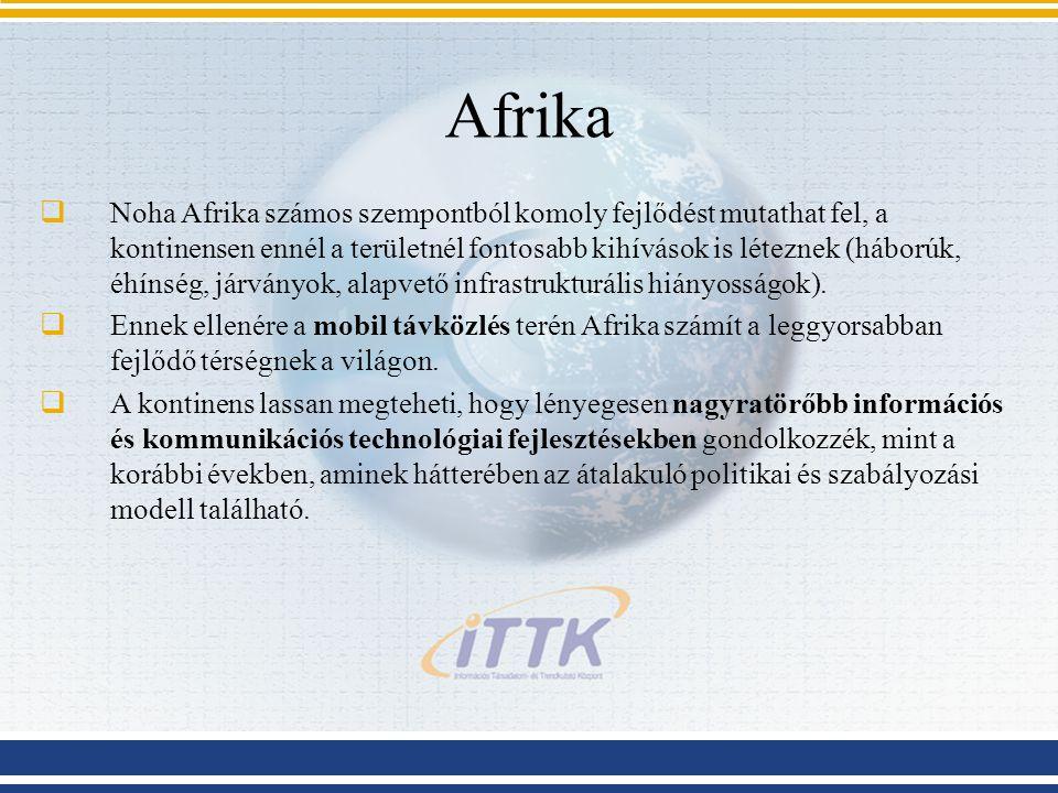 Afrika  Noha Afrika számos szempontból komoly fejlődést mutathat fel, a kontinensen ennél a területnél fontosabb kihívások is léteznek (háborúk, éhín