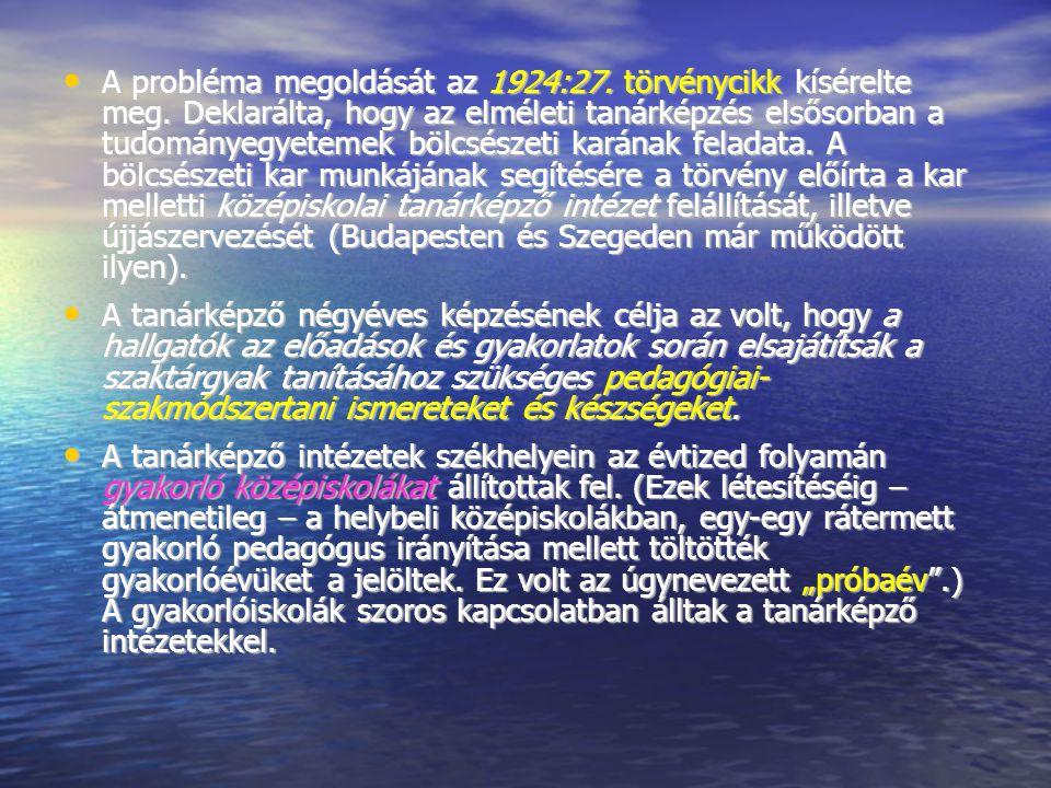 A probléma megoldását az 1924:27.törvénycikk kísérelte meg.