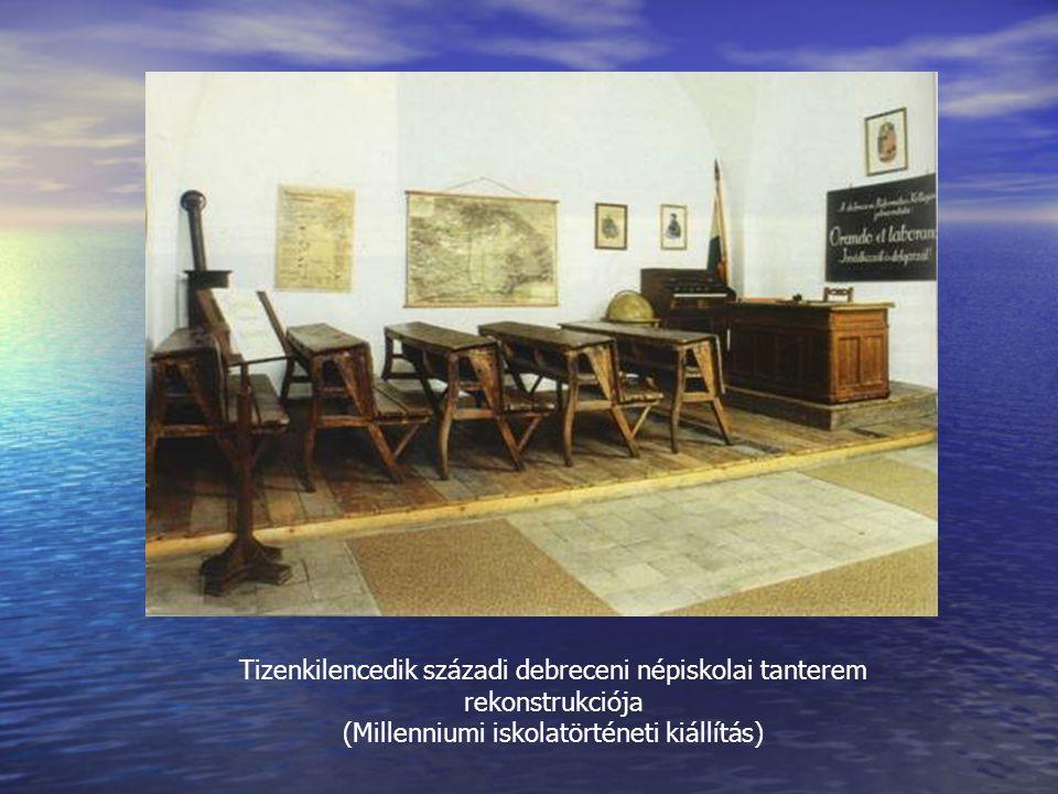 Tizenkilencedik századi debreceni népiskolai tanterem rekonstrukciója (Millenniumi iskolatörténeti kiállítás)