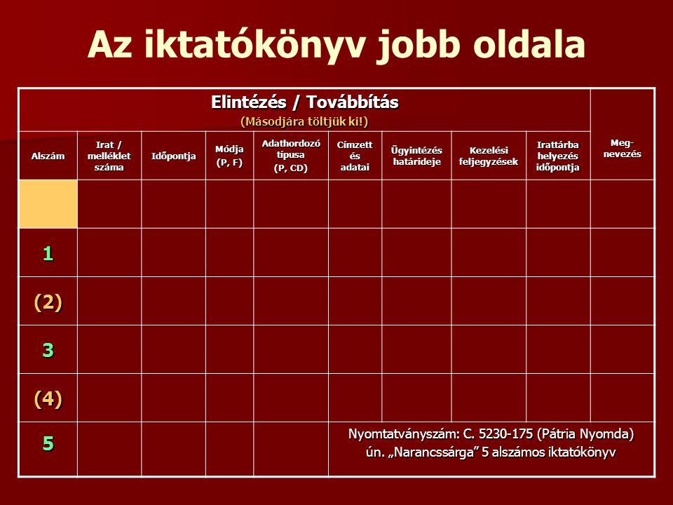 A köziratok levéltárba adása III.Jogalap: 10/2002.