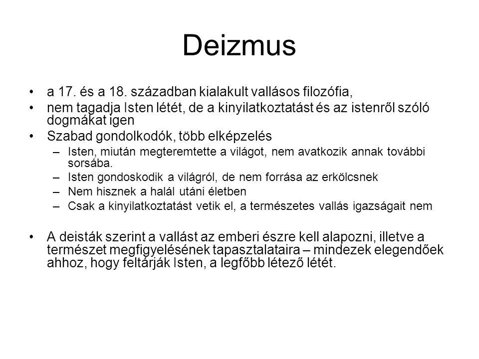 Deizmus a 17.és a 18.